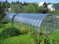 Полукруглая теплица из поликарбоната 4 м