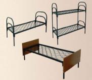 Кровати металлические с ДСП спинками
