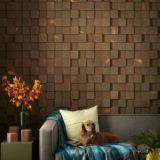 3D, VIP стена из термодревесины