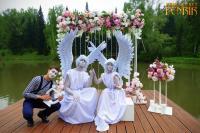 живые статуи ангелы на свадьбу регистрац
