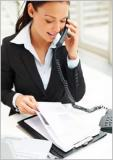 Приём звонков и работа с документацией